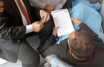 مريض يستدعي سيارة إسعاف للإدلاء بصوته في الانتخابات الرئاسية بالفيوم