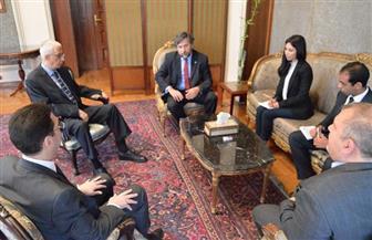 نائب وزير الخارجية يستقبل بعثة الجمعية البرلمانية للبحر المتوسط | صور