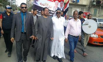 مسيرات لشباب سيناء احتفالا بالعرس الديمقراطي