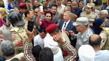 محافظ الإسماعيلية ومساعد رئيس أركان القوات المسلحة يتفقدان لجنة الواصفية