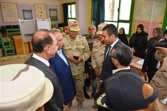 محافظة الشرقية وقائد الفرقة السادسة مدرعات يتفقدان سير العملية الانتخابية