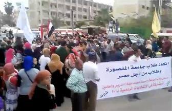 حشود من الناخبين واحتفالات بالمشاركة في الانتخابات الرئاسية بالمنصورة| فيديو