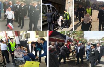 القيادات الأمنية تتفقد محيط لجان الاقتراع بالمحافظات | صور