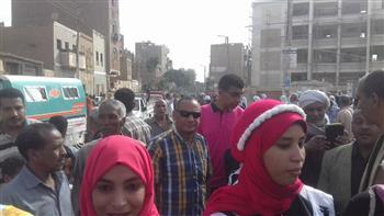 مسيرات للإدارة التعليمية بمركزي دشنا ونجع حمادي فى قنا دعما للانتخابات الرئاسية | صور