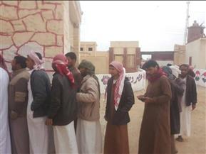 إقبال كبير في مركزي النجيلة وسيدي براني بمطروح في الانتخابات الرئاسية | صور