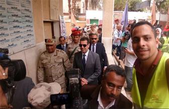 محافظ أسيوط وقائد المنطقة الجنوبية ومدير الأمن يتابعون سير الانتخابات | صور