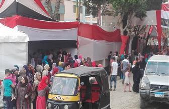 السيدات يتصدرن المشهد في لجان النصر بالمعصرة في اليوم الأخير للانتخابات | صور