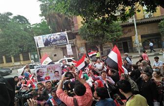 مسيرة احتفالية بالانتخابات لموظفي الشئون الاجتماعية بروض الفرج | صور