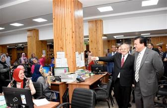 وزير التعليم العالي يزور جامعة القاهرة | صور