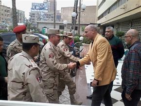 رئيس مركز المحلة يستقبل وفدا من قادة القوات المسلحة لمتابعة لجان الانتخابات | صور