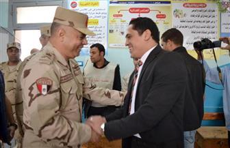 قائد المنطقة الشمالية العسكرية يتفقد لجان الانتخابات ببلطيم وبرج البرلس | صور