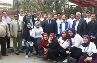 رئيس جامعة حلوان يتفقد المقار الانتخابية بالجامعة | صور