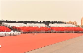 السعودية تستعد لاستقبال حفل تامر حسني بمدينة الملك عبد الله.. والمدرجات بألوان علم مصر | صور