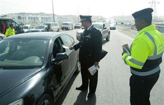 حملات مرورية على مستوى الجمهورية للحفاظ على سلامة المواطنين | صور