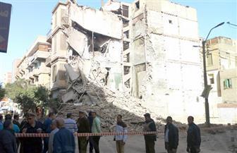 انهيارعقار تراثي في بنى سويف دون حدوث خسائر