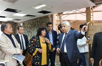 وزيرة الثقافة تتفقد أعمال تطوير قصر شرم الشيخ   صور