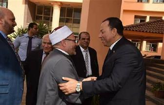 رئيس جامعة المنوفية يستقبل مفتى الديار المصرية | صور