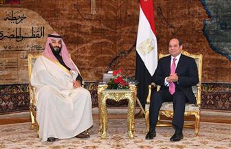 الرئيس السيسي وولي العهد السعودي يؤكدان التصدي لمحاولات بث الفرقة والتقسيم بين دول المنطقة/ صور