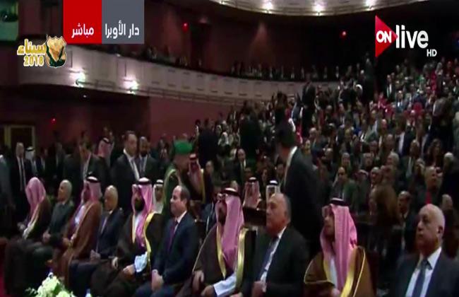 الرئيس السيسي وولي عهد السعودية يشهدان عرض سلم نفسك بدار الأوبرا  فيديو