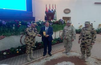 طلاب جامعة بني سويف يشاركون في حفل تكريم أسر شهداء قوات الصاعقة المصرية | صور