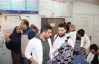 قافلة طبية شاملة من جامعة كفرالشيخ لقرية خان الجني توقع الكشف على 1154 مريضا   صور
