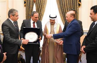 رئيس وزراء البحرين يستقبل وفد مؤسسة الأهرام برئاسة عبدالمحسن سلامة بالمنامة |صور