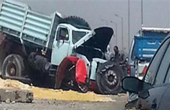 مصرع 8 وإصابة 5 في حادث تصادم سيارة نقل وميكروباص غرب الإسكندرية