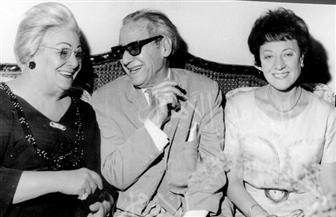 المخرج محمد كريم  وزوجته ودولت أبيض وبهيجة حافظ أول بطلة لأفلامه وصور من عام 1930