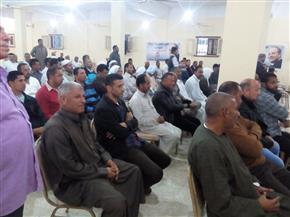 أهالي الكيلو 17 بقرية النصر بالإسماعيلية ينظمون مؤتمرا لتأييد الرئيس السيسي