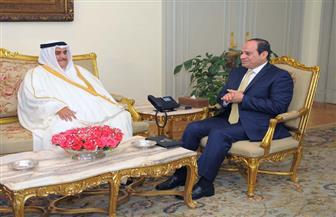 الرئيس السيسي يلتقي وزير خارجية البحرين ويتسلم رسالة من الملك حمد بن عيسى | صور
