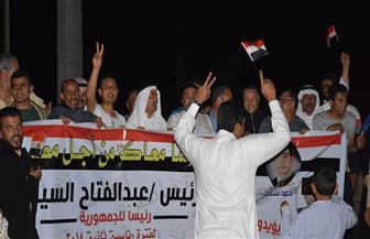 مسيرات ليلية حاشدة لدعم السيسي في طور سيناء  صور