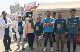 الاتحاد المصري لطلاب الصيدلة ببني سويف ينظم حملة للتبرع بالدم | صور