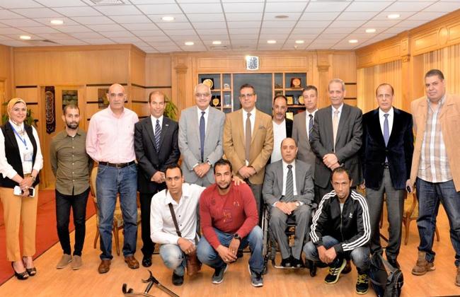 افتتاح مركز أنشطة للطلاب ذوي الاحتياجات الخاصة بجامعة المنصورة   صور -