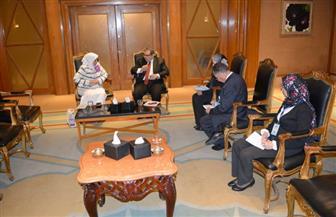 بحث تنفيذ الربط الإلكتروني تجريبيا بين مصر والكويت | صور