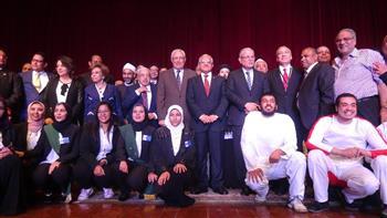 """افتتاح مؤتمر """"مواجهة الإرهاب بين الفكر والقانون"""" بـ""""حقوق المنيا"""""""