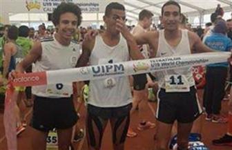 مصر تسيطر على منصة تتويج بطولة العالم لشباب الخماسي الحديث.. والجندي يتأهل للأوليمبياد   صور