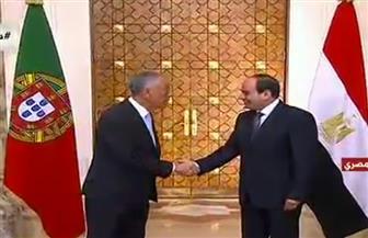 بدء القمة المصرية البرتغالية في قصر الاتحادية