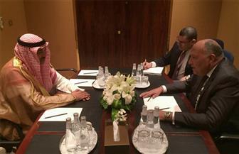 سامح شكري يجري مباحثات مع نائب رئيس وزراء الكويت بالرياض