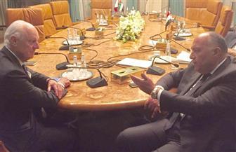شكري يبحث مع ديمستورا تطورات الأوضاع في سوريا | فيديو