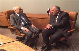 وزير الخارجية يناقش جهود التسوية السياسية بليبيا مع المبعوث الأممي غسان سلامة