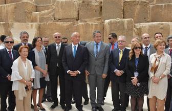 رئيس البرتغال يزور الأهرامات وأبو الهول والمتحف المصري الكبير  صور