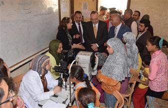 قافلة طبية للكشف على تلاميذ مدارس بني حدير في بني سويف | صور