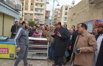 غرامة ألف جنيه على إشغالات المحال التجارية بشارع الإسكندرية في مطروح