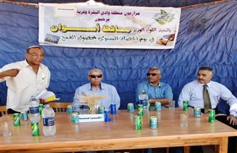 محافظ أسوان يتابع معدلات توريد القمح  بمشروع شباب الخريجين بمنطقة وادي النقرة | صور