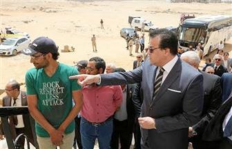 تفاصيل زيارة وزير التعليم العالي لجامعة مدينة السادات | صور