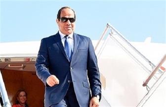الرئيس السيسي يعود إلى أرض الوطن قادما من باليرمو الإيطالية