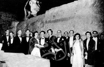 """أول إضاءه لسفح الأهرامات لعرض استعراض """"ملكة سبأ"""" بحضور عالمي.. صور من 1931"""