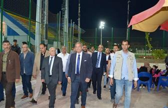 وزير الشباب ومحافظ بورسعيد يتفقدان المدينة الرياضية ببورسعيد | صور