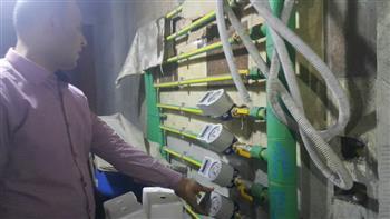 بدء تطبيق نظام عدادات المياه مسبوقة الدفع في محافظة الغربية | صور