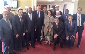 الجالية المصرية وسفيرة مصر برواندا يودعون سامح شكري بعد انتهاء زيارته | صور